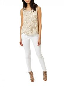 Miss Selfridge Embellished Sequin Shell Top