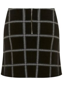 Miss Selfridge Check A Line Skirt