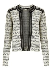 Miss Selfridge Aztec Embellished Trim Jacket