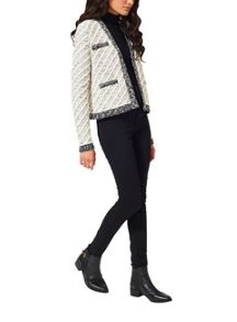 Miss Selfridge Cream Knitted Stitch Jacket