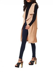 Miss Selfridge Waterfall Sleeveless Jacket
