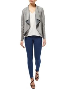 Miss Selfridge Grey Waterfall Jacket