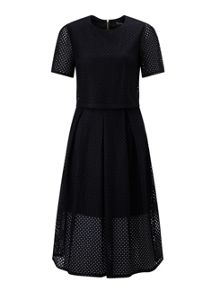 Broderie Double Layer Dress