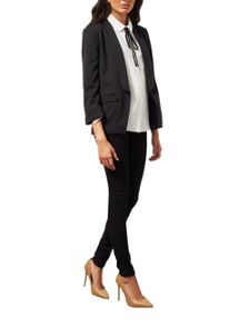 Miss Selfridge Black Ponte Jacket