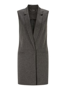 Miss Selfridge Charcoal Sleeveless Jacket