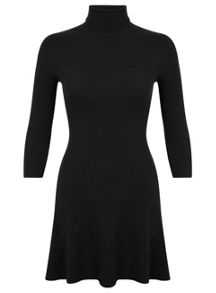Miss Selfridge Black Ribbed Knitted Dress