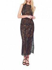 Miss Selfridge Lace Tabard Maxi Dress