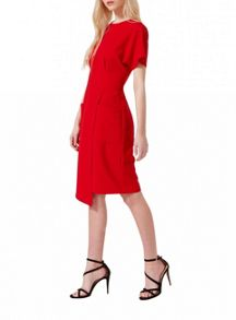 Miss Selfridge Red Wrap Pocket Dress