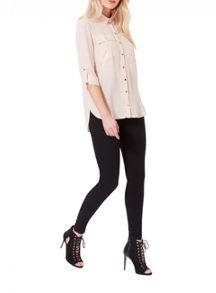 Nude Double Pocket Shirt