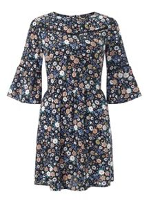 Petites Woodland Floral Dress