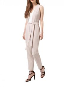 Miss Selfridge Colourblock Tie Waist Jumpsuit