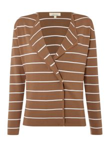 Stripe knitted jacket