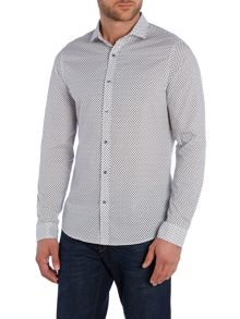 Michael Kors Ted Slim Fit Patterned Shirt