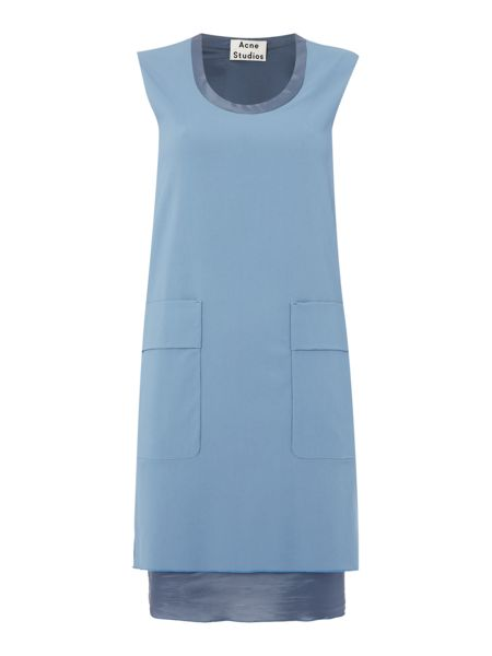 Acne Sleeveless Pocket Layered Panel Dress