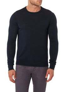Regular Fit Tipped Crew Neck Wool Jumper
