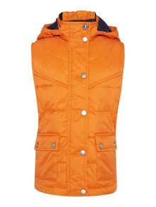 Barbour Girls hooded quilted gilet with studded adjusters