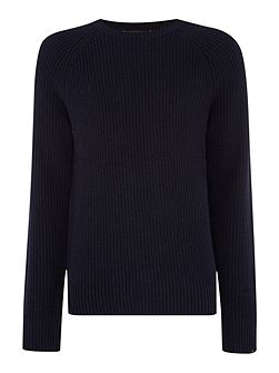 Regular Fit Chunky Cashmere Mix Jumper