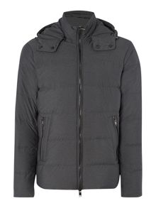 Hooded Down Zip Up Padded Jacket