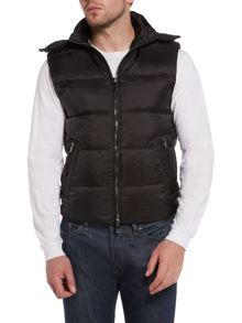 Michael Kors Hooded Down Zip Up Lightweight Vest
