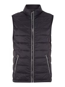 Sisley Men Padded Zip Through Gilet