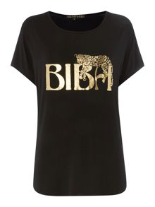 Draped Leopard Placement Tee