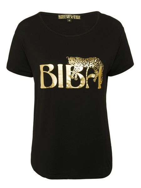 Biba Draped Leopard Placement Tee