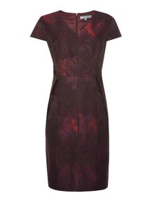 Dickins & Jones Plum Jacquard Dress