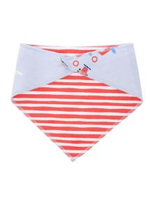 Boys Reversible planes and stripe print bib