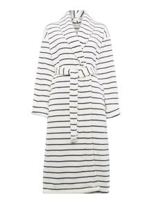 Dickins & Jones Shawl Navy Stripe Robe