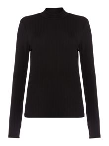 Roll neck top long sleeve