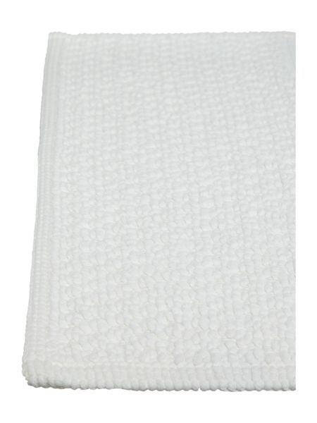Linea Reversible Bobble Pedestal Mat in White