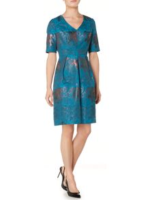 Fit & Flare Jacquard Dress