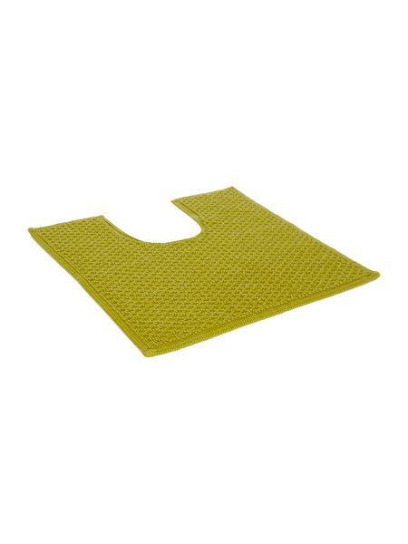 Linea Reversible Bobble Pedestal Mat in Lime