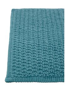 Linea Cotton bobble pedestal mat in cerulean