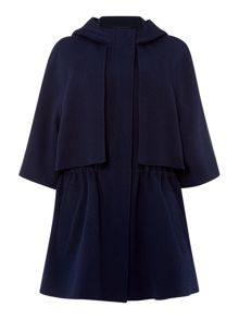 Sportmax Code Abbaco hooded short wool coat