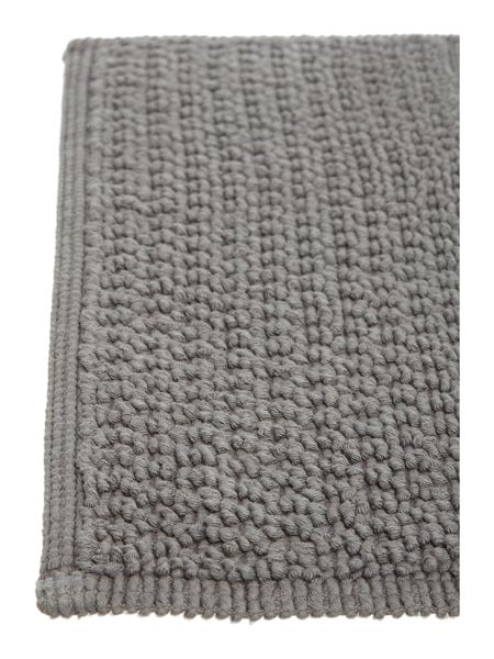 Linea Reversible Bobble Pedestal Mat in Charcoal
