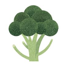 Worktop Saver, Broccoli- 30 x 30 cm