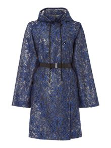 Sportmax Code Persia floral lace hooded raincoat