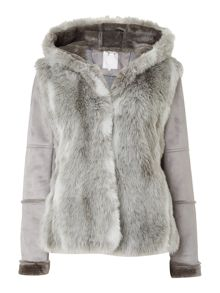Chamonix faux fur hooded jacket