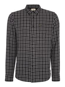Classic fit button down check shirt