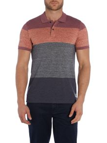 Large Stripe Short Sleeve Polo