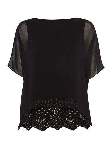 Episode Sheer blouse with lace underlay