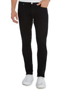 Lee Luke clean black slim taper jean