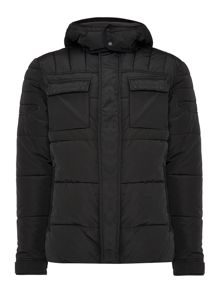 Padded Zip Through Jacket