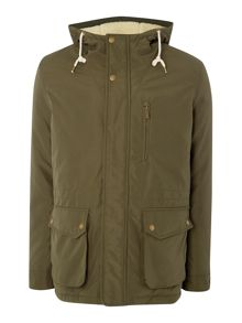 Jack & Jones Borg Lined Concealed Zip Parka