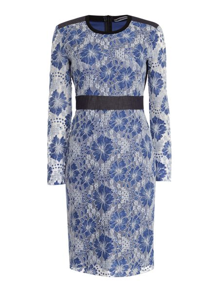 Sportmax Code Nilo long sleeve floral lace dress