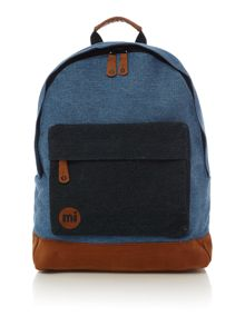 Mi Pac Denim patch stonewash backpack