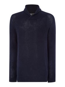Shawl Neck Knitted Jumper