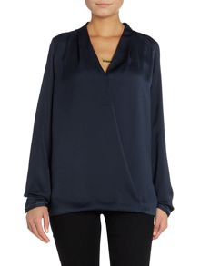 Maison Scotch Long sleeve front crossover top