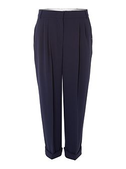 Cobra pleat front turn up trousers
